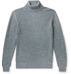 Loro Piana Mélange Baby Cashmere Rollneck Sweater
