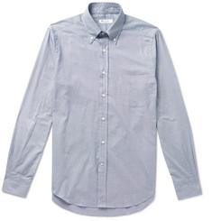 eac278ff0 Loro Piana Button-Down Collar Puppytooth Brushed-Cotton Shirt