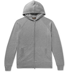 Loro Piana - Portland Mélange Cashmere and Silk-Blend Zip-Up Hoodie