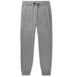 Loro Piana - Portland Tapered Mélange Cashmere and Silk-Blend Sweatpants