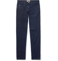 Loro Piana - Slim-Fit Cotton and Cashmere-Blend Denim Jeans