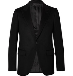 Ermenegildo Zegna Black Slim-Fit Camel Hair Blazer