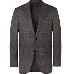 Ermenegildo Zegna Dark-Grey Slim-Fit Prince of Wales Checked Cashmere Blazer