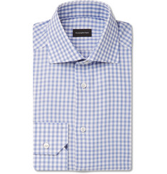 Ermenegildo Zegna Blue Checked Cotton Shirt
