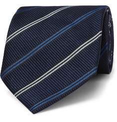 Ermenegildo Zegna 8cm Striped Silk Tie