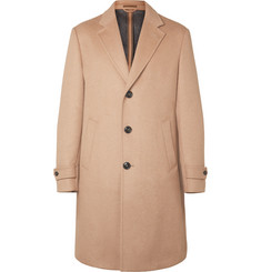 Ermenegildo Zegna Capri Nubuck-Trimmed Wool, Cashmere and Silk-Blend Overcoat
