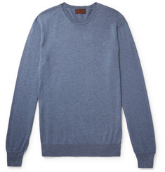 Altea Mélange Cotton and Cashmere-Blend Sweater