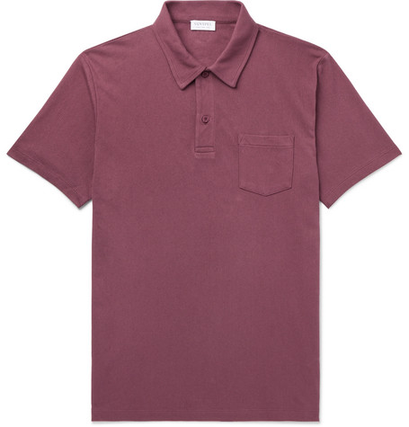 914c4dd1 Sunspel - Riviera Slim-Fit Cotton-Mesh Polo Shirt