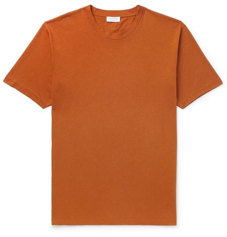 496793148d148d Sunspel - Riviera Mélange Organic Cotton-Jersey T-Shirt