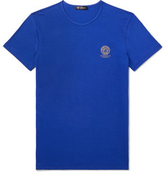 Versace Slim-Fit Logo-Print Stretch-Cotton Jersey T-Shirt