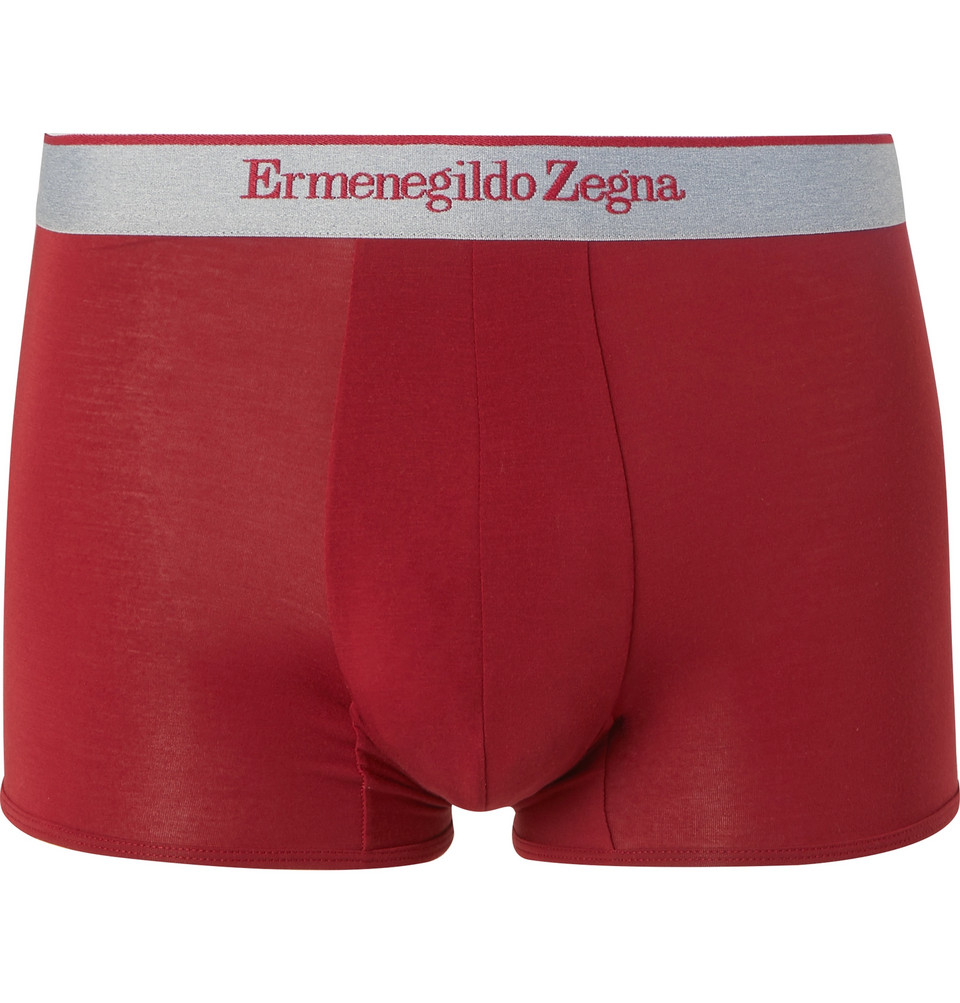 Stretch-modal Jersey Boxer Briefs - Red