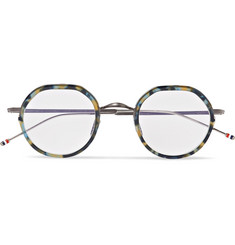 Thom Browne Round-Frame Acetate and Silver-Tone Optical Glasses