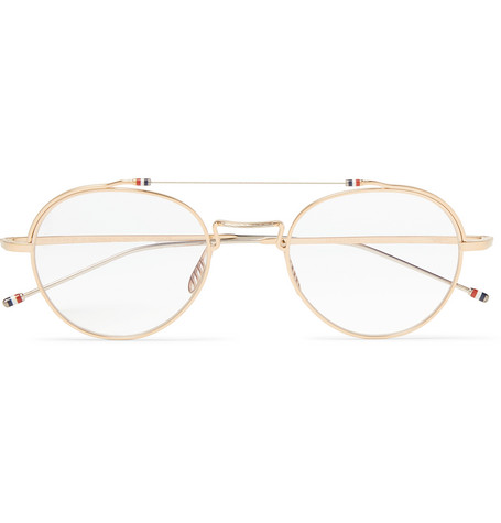 900034de045c Thom Browne - Round-Frame Gold and Silver-Tone Sunglasses