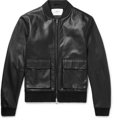 Mr P. Leather Bomber Jacket