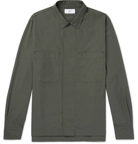 Oversized Cotton Ripstop Shirt by Mr P.
