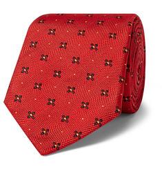 + Turnbull & Asser Rocketman 8cm Silk-jacquard Tie - Red
