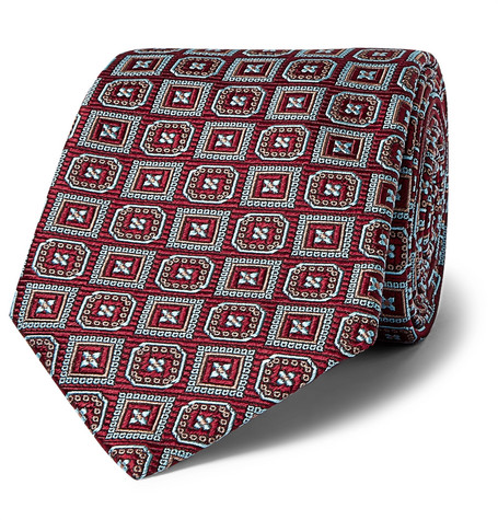 0914116ceaae Kingsman + Turnbull & Asser Rocketman Silk-Jacquard Tie - Burgundy - One Siz