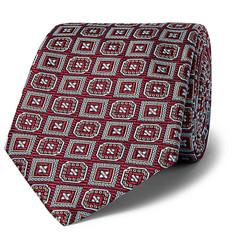 + Turnbull & Asser Rocketman Silk-jacquard Tie - Burgundy