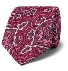 + Turnbull & Asser Rocketman 8cm Silk-jacquard Tie - Pink
