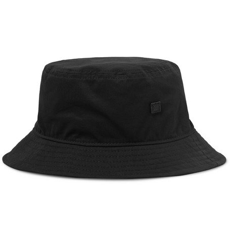 d3ce81f7 Acne Studios - Logo-Appliquéd Cotton-Twill Bucket Hat
