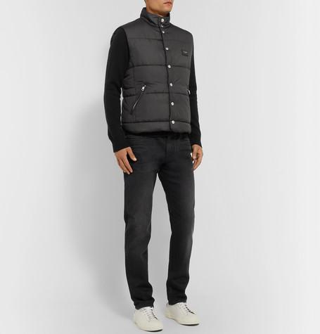Dolce & Gabbana Slim-Fit Washed-Denim Jeans In Black
