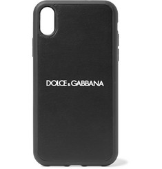 Dolce & Gabbana Rubber-Trimmed Logo-Print Polycarbonate iPhone X and XS Case