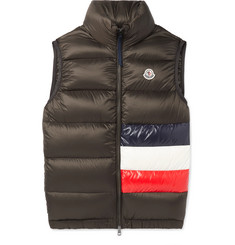 Moncler Sovex Slim-Fit Colour-Block Quilted Shell Down Gilet