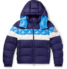 Moncler - Janvry Slim-Fit Colour-Block Quilted Shell Hooded Down Jacket