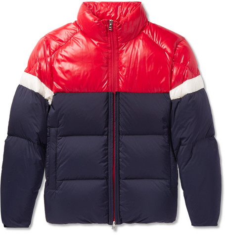 Konic Slim Fit Colour Block Quilted Shell Down Jacket by Moncler