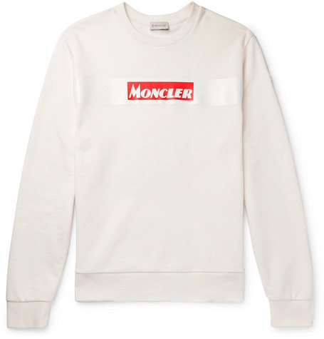 Logo Print Cotton Jersey Sweatshirt by Moncler