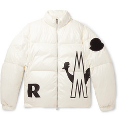 Moncler Friesian Printed Quilted Shell Hooded Down Jacket