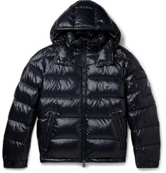 Moncler - Maya Quilted Glossed-Shell Hooded Down Jacket