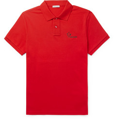 Moncler Slim-Fit Cotton-Piqué Polo Shirt