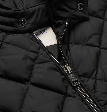 Moncler Breitman Quilted Shell Down Biker Jacket In Black ...