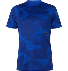 Under Armour UA Rush Printed Mesh-Panelled Celliant HeatGear T-Shirt