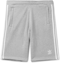 adidas Originals Logo-Embroidered Mélange Loopback Cotton-Jersey Shorts