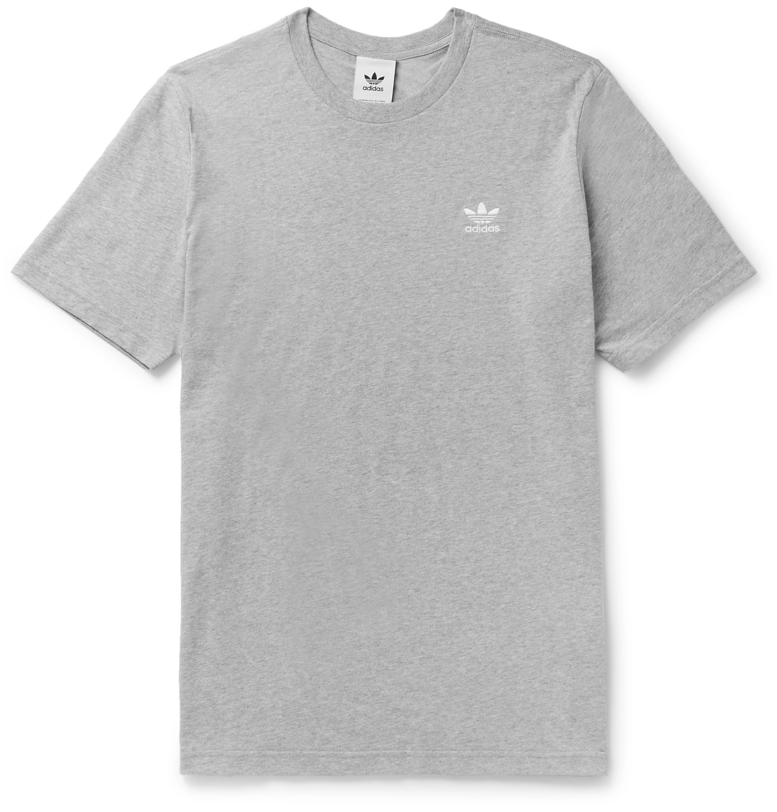 Trefoil Essentials T Shirt Grey
