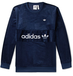 adidas Originals Samstag Logo-Appliquéd Cotton-Corduroy Sweatshirt