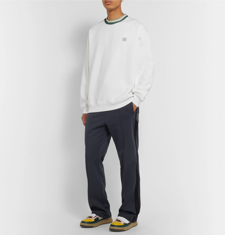 Contrast Trimmed Fleece Back Cotton Jersey Sweatshirt by Acne Studios