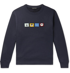 Acne Studios Appliquéd Fleece-Back Cotton-Jersey Sweatshirt