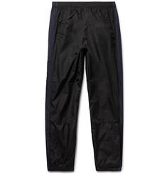Tapered Logo-appliquéd Nylon Track Pants - Black