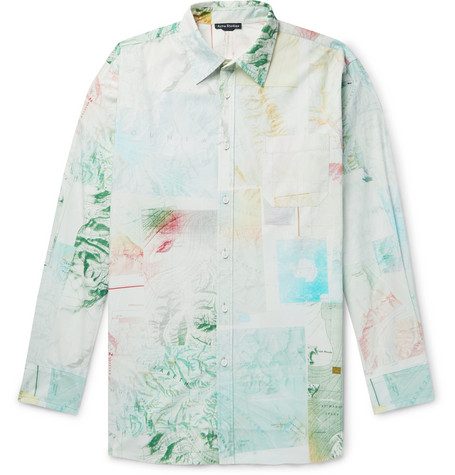 Oversized Printed Cotton Poplin Shirt by Acne Studios