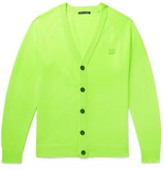 Neve Logo-appliquéd Wool Cardigan - Green
