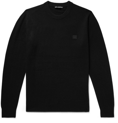 Nalon Logo Appliquéd Wool Sweater by Acne Studios