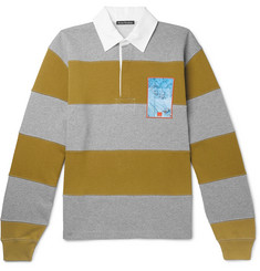 Acne Studios - Oversized Striped Loopback Cotton-Jersey Rugby Shirt
