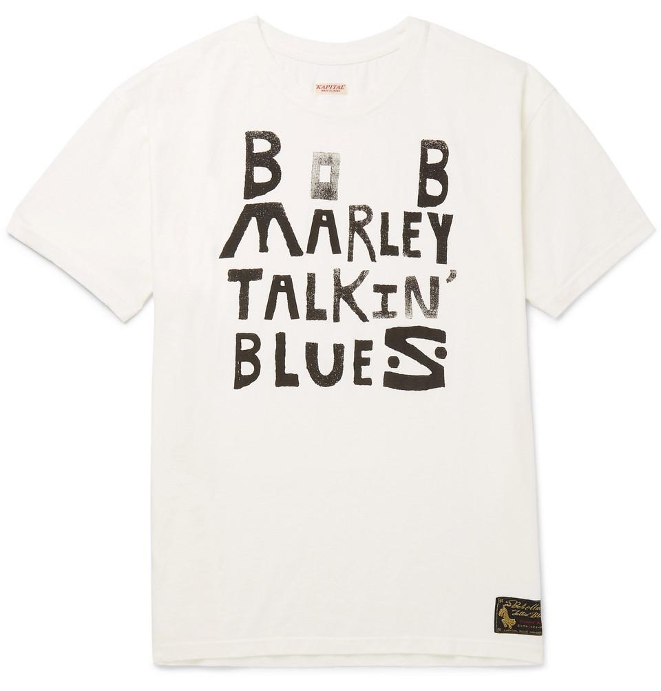 + Bob Marley Printed Cotton-jersey T-shirt - White