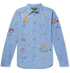 KAPITAL + Bob Marley Embroidered Cotton-Chambray Shirt