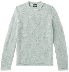 Giorgio Armani Slim-Fit Wool-Blend Sweater