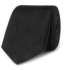 7cm Silk Tie - Black