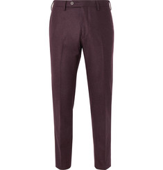 Lardini Skinny-Fit Mélange Wool Trousers